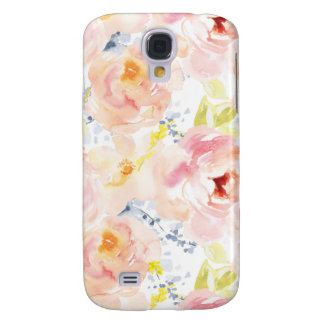 Watercolor Peony Pink Watercolor Flower Samsung Galaxy S4 Case