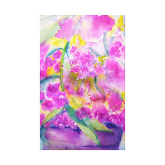 watercolor phlox canvas print