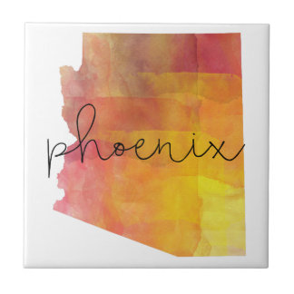 Watercolor Phoenix Arizona Ceramic Tile
