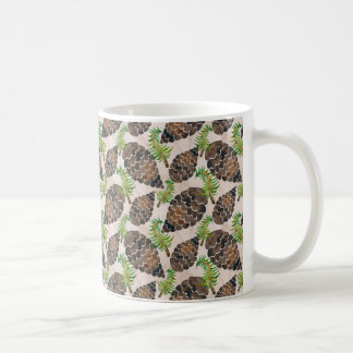 Watercolor Pine Cone Pattern Coffee Mug