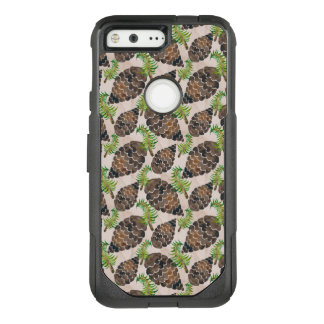 Watercolor Pine Cone Pattern OtterBox Commuter Google Pixel Case