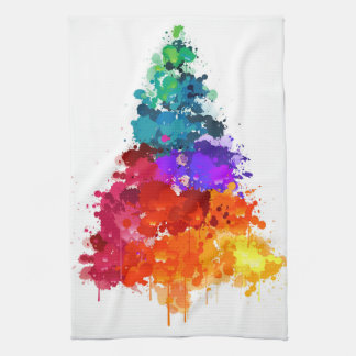 Watercolor Pine Tree Tea Towel