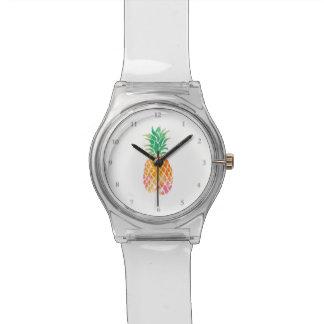 watercolor pineapple fruit art watch