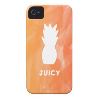 Watercolor pineapple - orange/red iPhone 4 cover