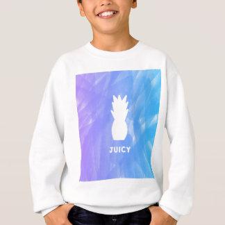 Watercolor pineapple - purple/blue sweatshirt