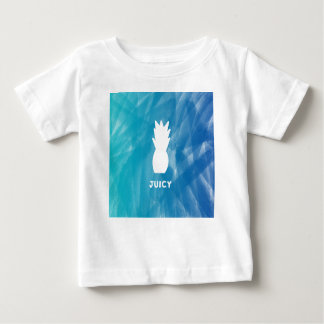 Watercolor Pineapple - teal Baby T-Shirt
