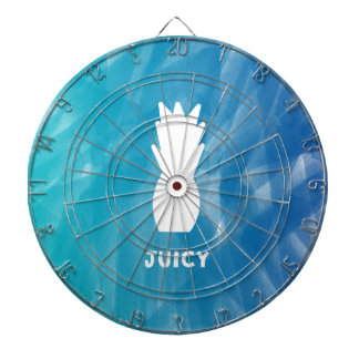 Watercolor Pineapple - teal Dartboard