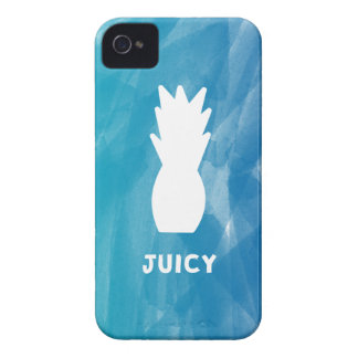 Watercolor Pineapple - teal iPhone 4 Case
