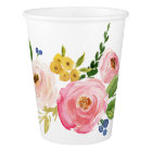 Watercolor Pink Blush Flower Bouquet Paper Cup