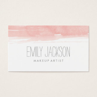 Watercolor Pink Business Card