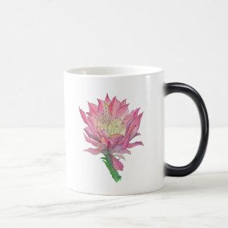 Watercolor Pink Cactus Flower Mug
