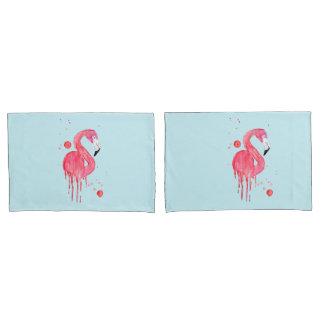 Watercolor Pink Flamingo Pillowcase