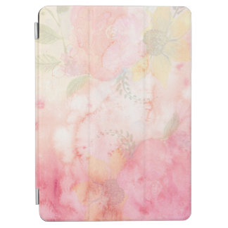 Watercolor Pink Floral Background iPad Air Cover
