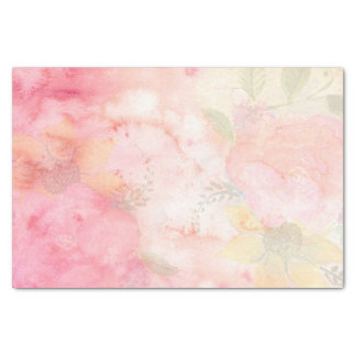 Watercolor Pink Floral Background Tissue Paper
