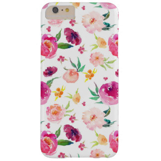 Watercolor Pink Flowers iPhone Case