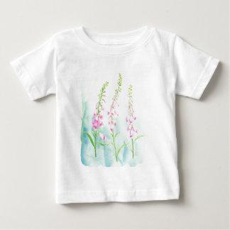 Watercolor Pink Foxgloves Baby T-Shirt