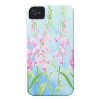Watercolor Pink Foxgloves Case-Mate iPhone 4 Cases