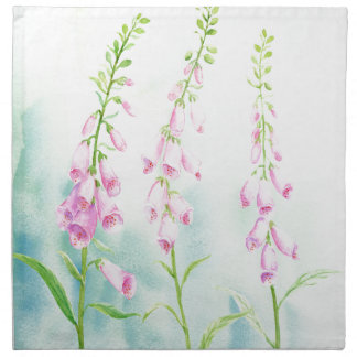 Watercolor Pink Foxgloves Napkin