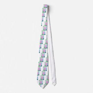 Watercolor pink foxgloves tie