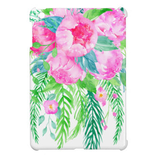 Watercolor Pink Peony bouquet Case For The iPad Mini