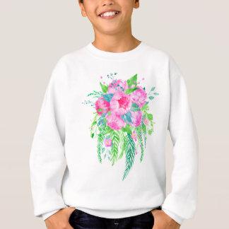 Watercolor Pink Peony bouquet Sweatshirt