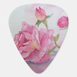 Watercolor pink Rose Guitar Pick