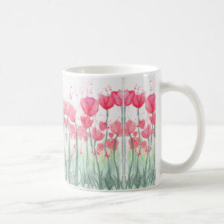 Watercolor Pink Tulip Mirror Mug