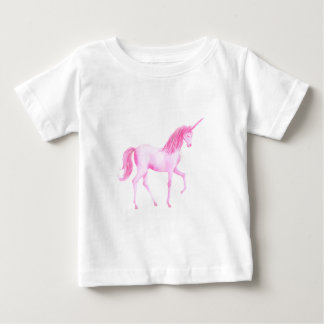 Watercolor pink unicorn baby T-Shirt