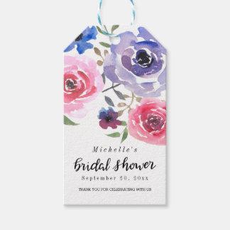 Watercolor Pink Violet Rose | Script Bridal Shower