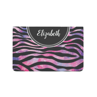 Watercolor Pink Zebra Animal Print Monogram Journal