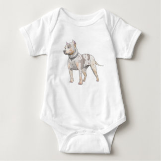 Watercolor Pit Bull Baby Bodysuit