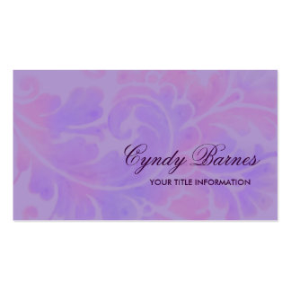 Watercolor Plume Business Card