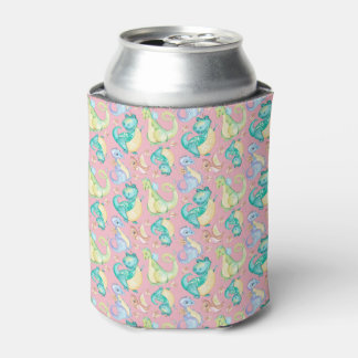 Watercolor Png Dinosaurs Hand Drawn Illustration Can Cooler