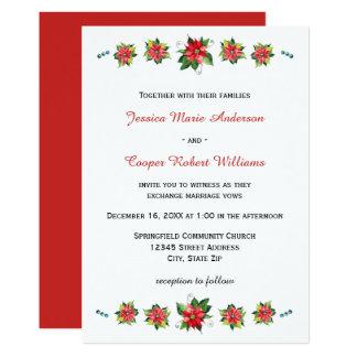 Watercolor Poinsettia - Wedding Invitation