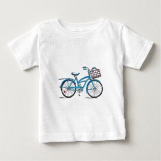 Watercolor Polka Dot Bicycle Tee Shirt