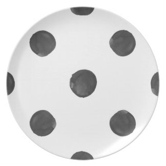 Watercolor Polka Dot Plate