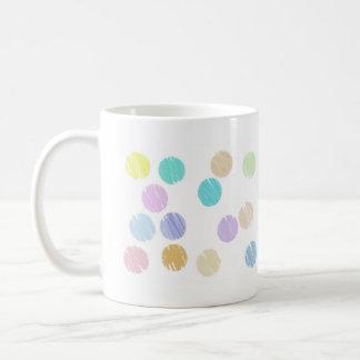 Watercolor Polka Dots Basic White Mug