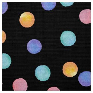 Watercolor polka dots fabric