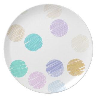 Watercolor Polka Dots Dinner Plate
