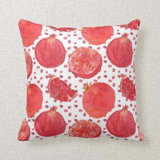 Watercolor Pomegranate Fruit Cushion
