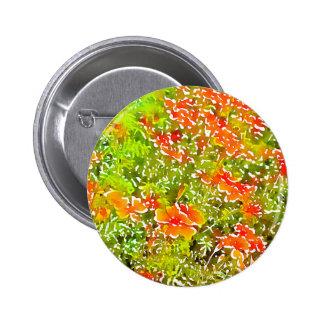 Watercolor Poppies 6 Cm Round Badge