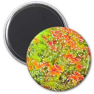 Watercolor Poppies 6 Cm Round Magnet