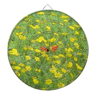 Watercolor poppies dartboard