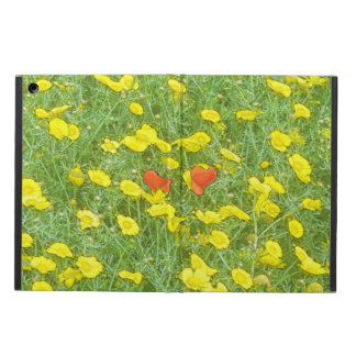 Watercolor poppies iPad air case