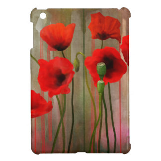 Watercolor Poppies Case For The iPad Mini