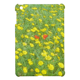 Watercolor poppies iPad mini cases