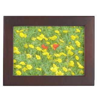 Watercolor poppies keepsake box