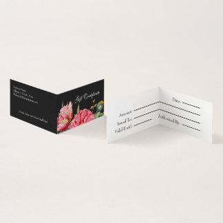 Watercolor Poppy Flowers Gift Certificate
