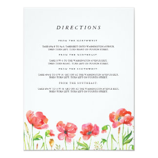 Watercolor Poppy Insert Cards
