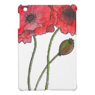 Watercolor Poppy iPad Mini Cover